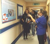 Students visiting the NIHR Cambridge CRF