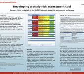 Developing a study risk assessment tool