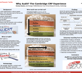 Why Audit? The Cambridge CRF Experience