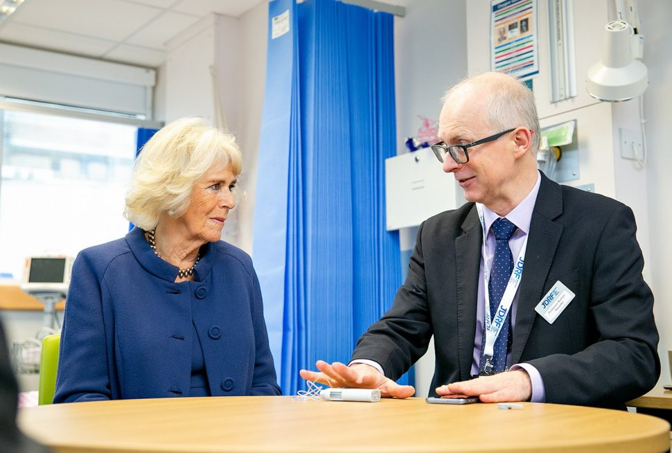 HRH The Duchess of Cornwall with Professor Roman Hovorka