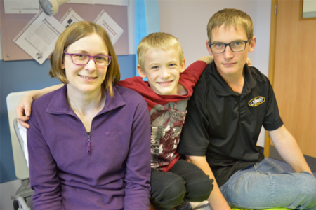 The Carr family on our Clinical Research Facility
