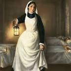 Florence Nightingale with her lamp